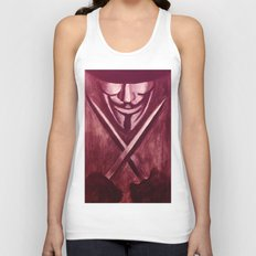 RED for VENDETTA Unisex Tank Top
