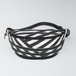 Black and white binding 1 Fanny Pack
