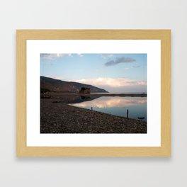 Horizont  sea italians views Framed Art Print