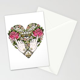 Love _ Heart _ Floral Art Stationery Cards