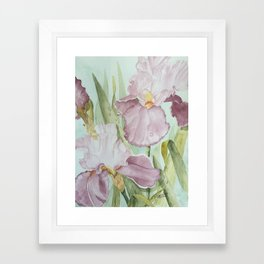 Lavender Beauties (irises) Framed Art Print