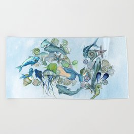 Atlantis Underwater World Beach Towel