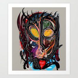 Heart is Art inspired by the music of Thomas Dolby Art Print