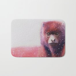Red monkey Bath Mat