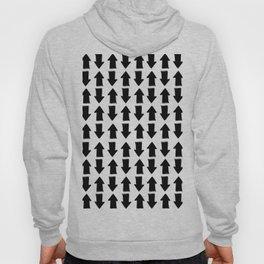 Minimalist black white modern arrows pattern Hoody