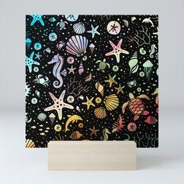 SEALIFE BACKGROUND - WATERCOLOR 15 Mini Art Print