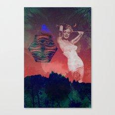 False Colored Eyes Canvas Print