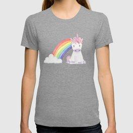 Kawaii Unicorn with Candy and Rainbows T-shirt