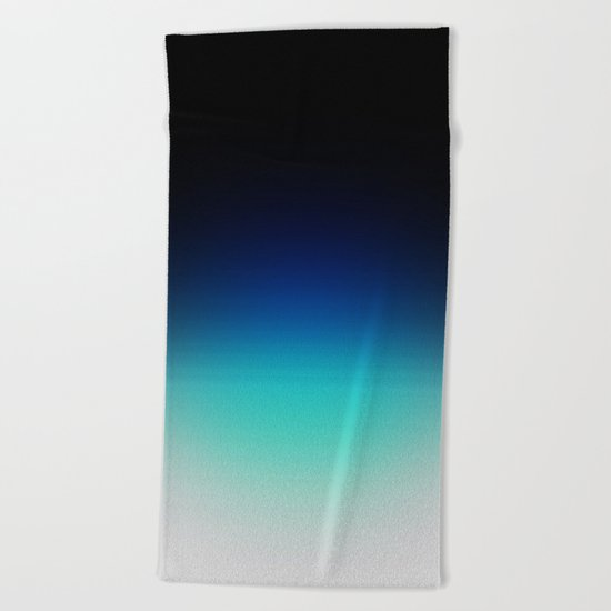 Blue Gray Black Ombre Beach Towel