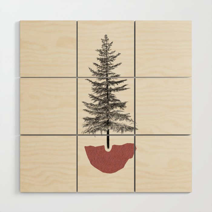 Fir Pine Wood Wall Art