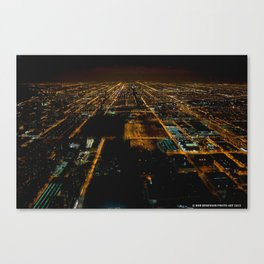 Lights for Miles and Miles #1 (Chicago Architecture Series) Canvas Print