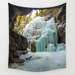 Angel Falls in Maligne Canyon, Canada Wall Tapestry