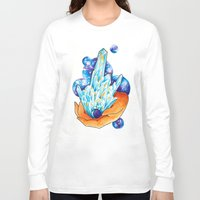 crystals Long Sleeve T-shirts featuring Crystals by missfortunetattoo