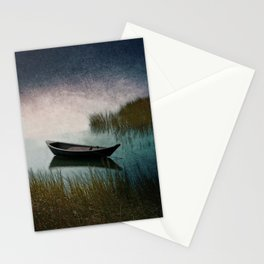 Midnight Paddle in Teal Indigo and Pink Stationery Cards