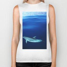 Dolphin, blue and sea Biker Tank
