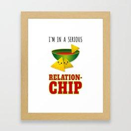 Funny Serious Relationchip Cinco de Mayo Framed Art Print