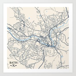 Bath Map Art Print