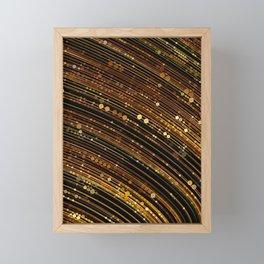 rox - abstract design rich brown rust copper tones Framed Mini Art Print