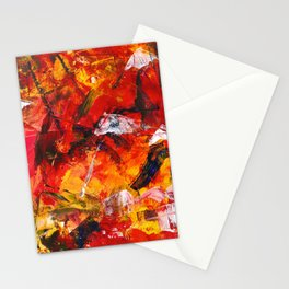 Abstract in warm colors Stationery Cards