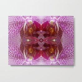 Orchid (Mandala-esque #116d) Metal Print