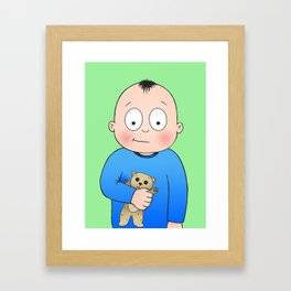 Bed Time Buddy Framed Art Print