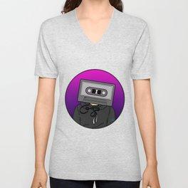 Icelapse Macintosh - Music Inspired Cassette Tape Digital Vector Unisex V-Neck