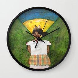 St. Lucian/Caribbean Girl Wall Clock