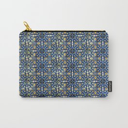 Blue, Yellow and Orange Portuguese Tile  Carry-All Pouch