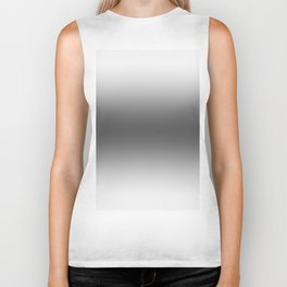 White to Black Horizontal Bilinear Gradient Biker Tank