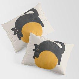 Cat with ball Pillow Sham