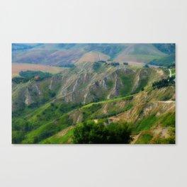 Etrurian Hills Canvas Print