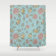 Mantón Azul Shower Curtain