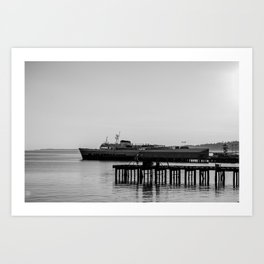Coho at Dock Art Print