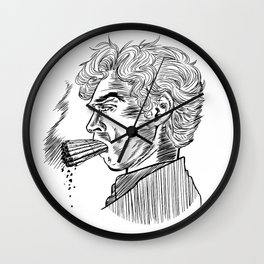 London Smoking Habit (Lineart) Wall Clock