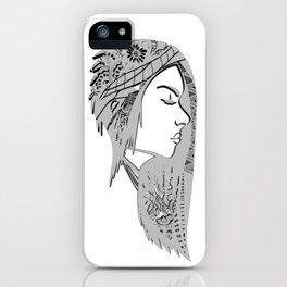 Zentangle portrat 1 iPhone Case