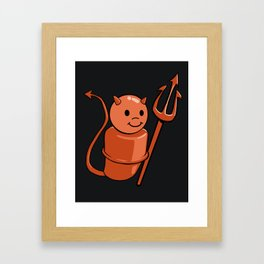 Peg Devil Framed Art Print