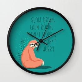 Slow down, sloth Wall Clock