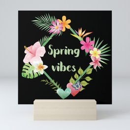 Spring Vibes Exotic Flowers Mini Art Print
