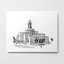 Draper Utah LDS Temple Metal Print