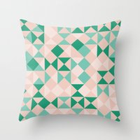 emerald Throw Pillows featuring Emerald  by Leandro Pita
