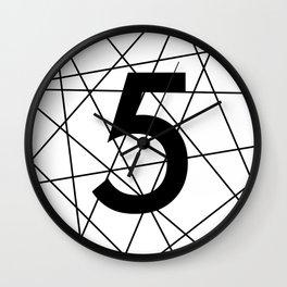 Prime number 5 / minimalist design Wall Clock