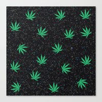 weed Canvas Prints featuring Weed by jajoão