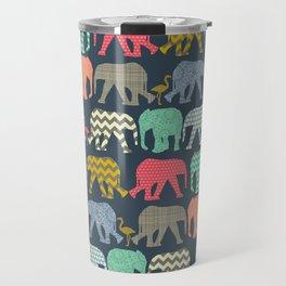 baby elephants and flamingos Travel Mug