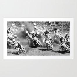 Dusty Race Art Print