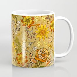 Rose vintage inpsired retro, warm colors 70s, boho Coffee Mug