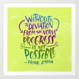 Frank Zappa on Progress Art Print