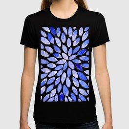 Watercolor brush strokes - blue T-shirt
