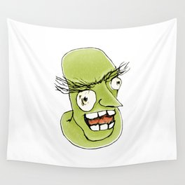 Mad Monster Man with Evil Expression Wall Tapestry