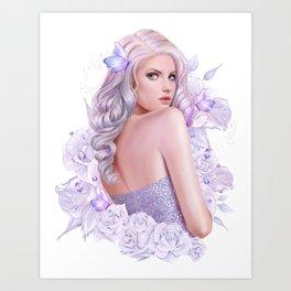 Lady Amethyst Art Print