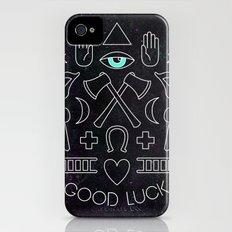 GOOD LUCK iPhone (4, 4s) Slim Case